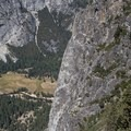 Looking down on Yosemite Valley.- Sentinel Dome - Taft Point Loop
