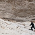 Scaling the metamophosed rock on the Mosaic Canyon Trial.- Mosaic Canyon Trail