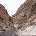 The trail follows the path created by centuries of erosion.- Mosaic Canyon Trail