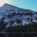 Tenaya Peak stands watch over Tenaya Lake. - Tenaya Lake