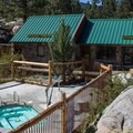 Bathhouse and spa.- Mono Hot Springs Resort