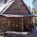 The resort rents rustic cabins.- Mono Hot Springs Resort