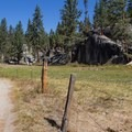 The trailhead beigns at Mono Hot Springs Resort.- Doris Lake