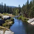 South Fork of the San Joaquin River.- Mono Hot Springs Resort
