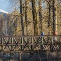 Bridge over Gibbons Creek at Steigerwald National Wildlife Refuge.- Steigerwald Lake National Wildlife Refuge