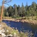 South Fork of the San Joaquin River.- Mono Hot Springs Campground