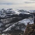 Many lines to plan for on neighboring Stevens and Red Lake Peaks.- Waterhouse Peak
