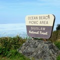Ocean Beach sign along Highway 101.- Ocean Beach Picnic Area