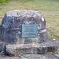 Stone memorial for Muriel O. Ponsler.- Muriel O. Ponsler Memorial State Scenic Viewpoint