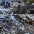 The trail follows the Marble Fork of the Kaweah River, seen here at low flow.- Tokopah Valley Trail