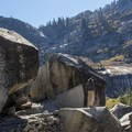 The canyon opens up closer to the falls.- Tokopah Valley Trail