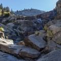 Exploring below the Topokah Falls.- Tokopah Valley Trail