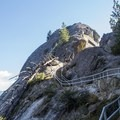 A steepening stariway leads up Moro Rock's backside.- Moro Rock