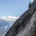 Continuing up Moro Rock's stairway.- Moro Rock