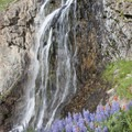A smaller fourth waterfall is passed around 9,200 feet.- North Fork of the Big Wood - West Fork of the North Fork
