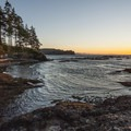 Sunset on the Strait of Juan de Fuca from Salt Creek Recreation Area Campground.- Salt Creek Recreation Area Campground