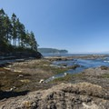 View of the Strait of Juan de Fuca from the north side of Tongue Point.- Tongue Point