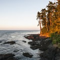 Sunset on the Strait of Juan de Fuca from Tongue Point.- Tongue Point
