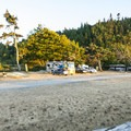Open campsites at Crescent Beach Campground + RV Park.- Crescent Beach + RV Park