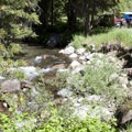 The North Fork of the Big Wood Trailhead.- North Fork of the Big Wood
