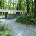 Restroom facilities at Elwha Campground.- Elwha Campground