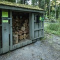 Firewood for purchase at Elwha Campground.- Elwha Campground