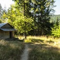 Humes Ranch along the Elwha River Trail Loop.- Elwha River Trail, Goblin Gates + Humes Ranch Loop