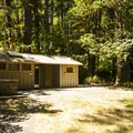 Restroom facilities at Altair Campground.- Altair Campground