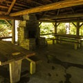 Day use picnic shelter at Altair Campground.- Altair Campground