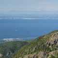 View north toward Port Angeles, the Strait of Juan de Fuca, and Victoria.- Klahhane Ridge Trail + Sunrise Point