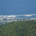 View north toward Port Angeles.- Klahhane Ridge Trail + Sunrise Point