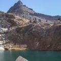 Mineral Peak (11,615') above Lower Monarch Lake.- Monarch Lakes Hike