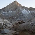 Backcountry campsite at Columbine Lake.- Columbine Lake