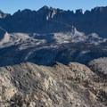 Kaweah Peaks Ridge.- Columbine Lake