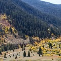 Looking west down the valley from the Sawtooth Pass Trail.- Mineral King Valley