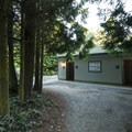 Restroom and shower facilities at Dungeness Recreation Area Campground.- Dungeness Recreation Area Campground