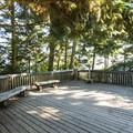 Viewing platform at Dungeness Recreation Area.- Dungeness Recreation Area Campground