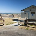 Restroom facilities at Dungeness Landing.- Dungeness Landing County Park