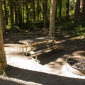 Hiker/biker camping area at Sequim Bay State Park Campground.- Sequim Bay State Park Campground