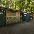 Restroom facilities at Sequim Bay State Park Campground Group Camp.- Sequim Bay State Park Campground