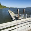 Sequim Bay State Park dock/marina.- Sequim Bay State Park Campground