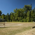 Sports field at Sequim Bay State Park.- Sequim Bay State Park Campground