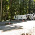 RV campsites at Sequim Bay State Park Campground.- Sequim Bay State Park Campground