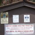 Trailhead information sign at Bellas Lakes.- Bellas Lakes