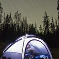 Camp at night.- Bellas Lakes