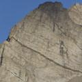 The impressive east ridge and east face of Altair Peak.- Bellas Lakes