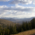 Looking down Bellas Canyon to the Copper Basin and across at the Lost River Range.- Bellas Lakes