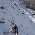 The route, typically a Class 3 with sections of Class 4 scrambling, becomes all the more challenging after a snowfall.- The Devils Bedstead via Boulder Lake Canyon
