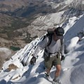 Back into easy terrain to the summit.- The Devils Bedstead via Boulder Lake Canyon