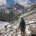Heading up into the Boulder Canyon.- The Devils Bedstead via Boulder Lake Canyon